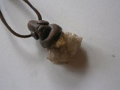 pendant with Baryt Flourit matrix stones healing by orangeblooming