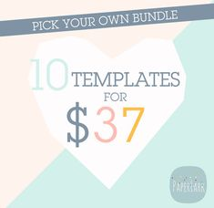 10 Templates for 37 Dollars  Make Your Own by PaperLarkDesigns