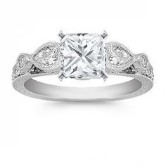 Vintage Engagement Rings white gold - gorgeous details