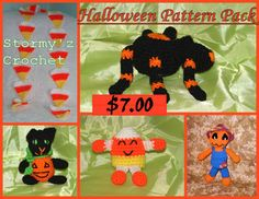 Halloween Amigurumi Pattern Pack, now only 5.00 thru 10/31!! on Etsy, $5.00