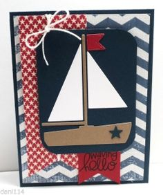 COME SAIL AWAY Card KIT Created with Stampin Up & Paper Smooches products
