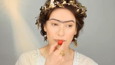 Women in ancient Greece would lighten their faces using lead. A pale complexion was wanted to show high class. Natural beauty was valued. Women would have unibrows and lips were made a more saturated color with clays. Nails Now, Lisa Eldridge, Clays, Makeup Designs, Saturated Color, Bronze Age, High Class, Ancient Greece, Beauty Trends