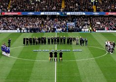 11 March 2006: Former Chelsea players join in a tribute to the late Peter Osgood who died on 1 March 2006...