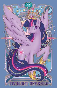 Twilight Sparkle Alicorn Nouveau HT Exclusive by *hezaa on deviantART