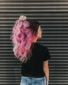Women Pink Wigs Lace Front Hair Platinum Blonde And Pink Hair Pink And Purple Split Hair Millennial Pink Hair Pink Ombre Hair, Pastel Pink Hair, Pink Wig, Hair Color Pink, Cute Hair Colors, Beautiful Hair Color, Hair Dye Colors, Cool Hair Color, Best Hair Dye