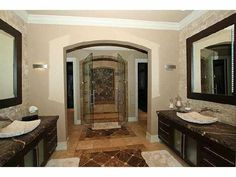 Who doesn't need a huge #shower with double doors? www.cctulsa.com
