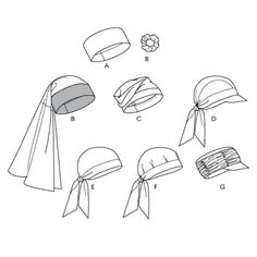 Turban Head Wrap Hats Caps Sewing Pattern Uncut by CynicalGirl