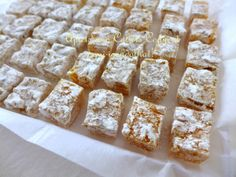"""After so many years, I finally was able to make """"almost as good as the original"""" Aplets and Cotlets . These jellied fruit candies are . Holiday Desserts, Just Desserts, Holiday Treats, Aplets And Cotlets, Candy Recipes, Dessert Recipes, Christmas Baking, Christmas Candy, Christmas Foods"""