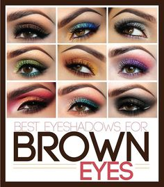 Best eyeshadow shades for brown eyed ladies