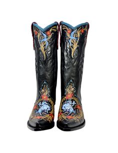 Tattoo You Let 'er Rock - Handmade Cowboy Boots from Liberty Boot Co - #CowgirlChic