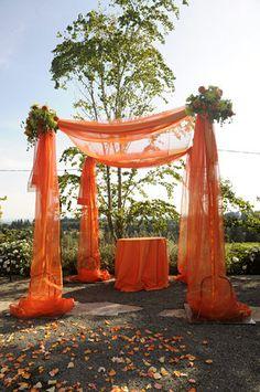 Ceremony, Orange, Chuppa, Alter, West coast event productions, inc