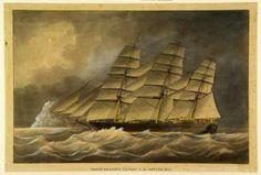 Het klipperfregat 'Noord-Brabant'. Spin, Jacob, 1873    Het Scheepvaartmuseum