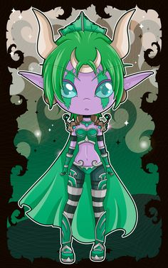 Ysera Chibi - World of Warcraft by Aphoedia on DeviantArt