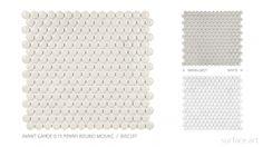 Contempo Avant Garde - Surface Art, Inc. Penny Round Tiles, Surface Art, Bathroom Renos, Mid Century, Flooring, Modern, Trendy Tree, Wood Flooring, Floor