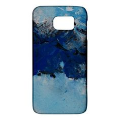 Blue+Abstract+No.5+Galaxy+S6+Samsung+Galaxy+S6+Hardshell+Case+