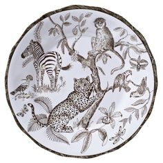 African Inspirations dinner plate from the new melamine collection by Lynn Chase Gift Store, Ceramic Painting, Bridal Gifts, Online Gifts, Fine China, Decoration, Dinner Plates, Dinnerware, Glass Art