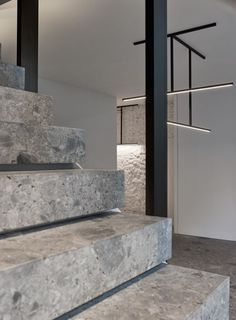 "Stairs in Ceppo di Gré- Lighting ""Fuga"" by Kreon"