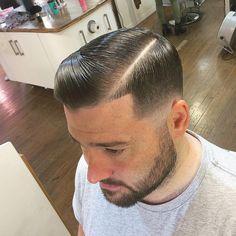 Side part bald fade @rosco_mk1  #menshair #style #hair #vintagecuts #Barbersinctv #oldschoolbarbers #RebelBarbers #clipperovercomb  #fridaybarbergang #britishmasterbarbers #barbershopconnect #thebarberpost #BarberLoveUK #scissorovercomb #SessionSpray #internationalbarbers #Glasgow #SkinFade #Scotland #Andis #ScotStreetStyle #CreativeScotland #Menshaircut #vintagestyles #KevinMurphy #GrittyBusiness #traditional_barbers #Wahl #AmericanCrew
