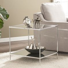 Shop for Harper Blvd Knowles Glam Mirrored End Table – Chrome. Get free shipping at Overstock.com - Your Online Furniture Outlet Store! Get 5% in rewards with Club O! - 20929974