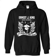 Ernest J King High School - Its where my story begins! - #tshirt men #tshirt couple. ORDER HERE => https://www.sunfrog.com/No-Category/Ernest-J-King-High-School--Its-where-my-story-begins-6047-Black-Hoodie.html?68278