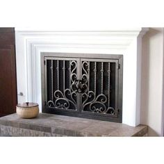 arched inside rectangle fireplace doors san diego carlsbad orange rh pinterest com Home Depot Fireplace Doors Iron Fireplace Doors