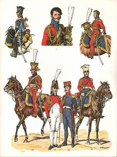 Imperial Guard, 2nd regiment (Dutch) Chevau-Legers Lanciers , Officers, 1810-1815 (Plate 104b)