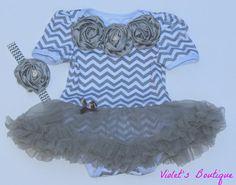 Chevron print onesie....baby girl romper...baby girl tutu...tutu set...onesie tutu set. on Etsy, $28.99