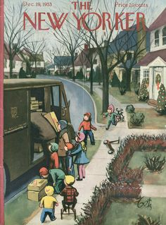 The New Yorker - Saturday, December 19, 1953 - Issue # 1505 - Vol. 29 - N° 44 - Cover by : Arthur Getz