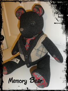 Memory Bear....this one made from a sweater and tie $45
