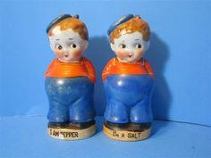Vintage Ceramic Sailors Boys Kids Salt Pepper Shaker Japan Lot Retro Art Deco   eBay