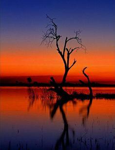 Blue + Orange Landscape. Beautiful.