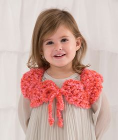 Child Perfect Shrug Free Crochet Pattern from Red Heart Yarns