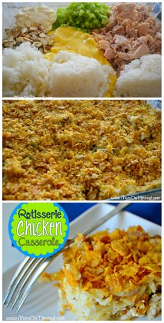 Rotisserie Chicken Casserole  | MomOnTimeout.com - A delicious casserole made easy with rotisserie chicken. #dinner #recipe #chicken
