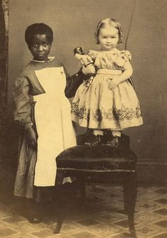 Truly a most magnificent picture. If I remeber rightly, this cdv photographsold last year for over $600 (US). A very rare picture of a beautiful young girl on the chair, who is being looked aft...