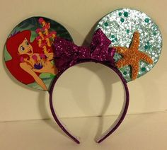 Ariel-inspired Mickey Mouse ears on my favorite Etsy store.  https://www.etsy.com/listing/213192041/cinderella-inspired-mickey-mouse-ears?ref=shop_home_feat_4