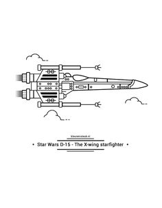 Star Wars X-wing starfighter X Wing, Kind, Starwars, Plane, Coloring, Company Logo, School, Star Wars, Airplanes