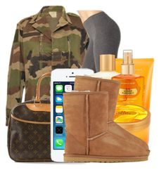 """""""Feb.10.2k14"""" by that-girl-ny ❤ liked on Polyvore featuring Louis Vuitton, Victoria's Secret and UGG Australia"""