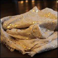 """Beautiful Speckled Metallic Scarf Extra large speckled scarf 