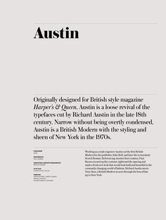Typographic design - Austin news deck font Commercial Type – Typographic design Lettering, Typography Letters, Typography Logo, Graphic Design Typography, Serif Typeface, Font Design, Layout Design, Branding Design, Editorial Layout