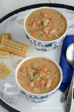 White Bean Chowder - used 4 bacon slices, 1t dried thyme(try more), more of all other seasonings