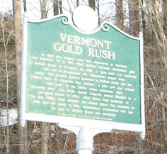 Gold panning in Vermont