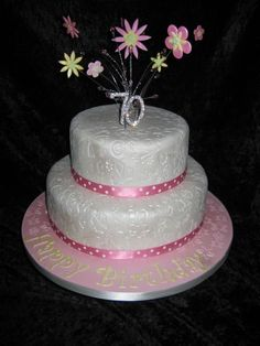 Th Birthday Cake On Cake Central Aniversário Bolo Pinterest - Birthday cakes 70th ladies