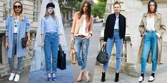 the flare denim jean trend street style | how to style your mom jeans men s style your