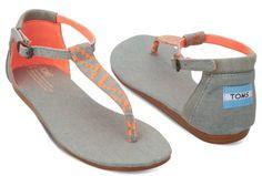 $25.00 Neon Denim Women's Playa Sandals   TOMS - Bestie.com