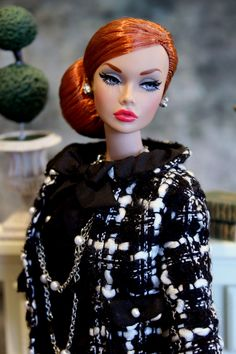 https://flic.kr/p/wo25eR | Poppy Mood Changers Day | Poppy Mood Changers redhead in Barbie Silkstone Boucle Suit, very chic.