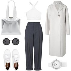 Playing with Proportions by fashionlandscape on Polyvore featuring Mode, Jil Sander, Boutique, Helmut Lang, Acne Studios and The Row
