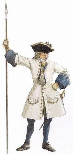 Officier de l'compagnies franches de la marine en Nouvelle-France, circa 1735