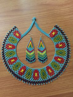 A personal favorite from my Etsy shop https://www.etsy.com/listing/261634272/rominas-huichol-beaded-choker-with
