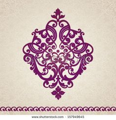 Vector baroque ornament in Victorian style. Element for design. It can be used for decorating of invitations, greeting cards, decoration for bags and clothes.