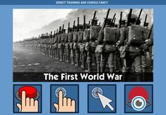 The First World War - free teaching activity for switch, touchscreen, pointing device and eye gaze users. Use online or download for Windows PC.